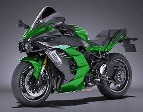 Kawasaki Ninja H2 SX 2018 3D model
