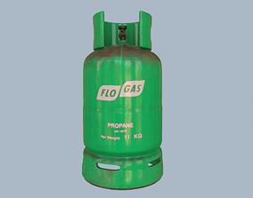 Gas Cylinder Teal 3D asset
