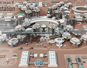 realtime Tile pack city 3d low poly 10 space