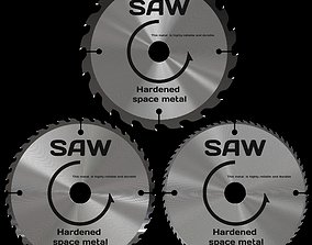Three circular saws 3D