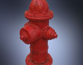 USA Painted fire hydrant 3D model