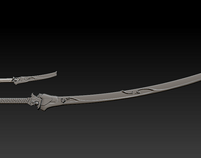 3D print model Oni Genji sheaths and swords