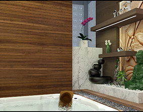 jacuzzi spa - meditate - sauna bath 3D model