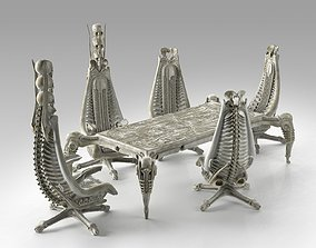 Harkonnen Table and Chairs 3D