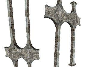 Gatehouse 01 Aqueduct Pillar 04 3D asset