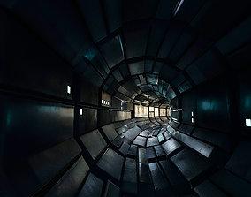 Modular Tunel Pack Sci Fi Lowpoly 3D asset