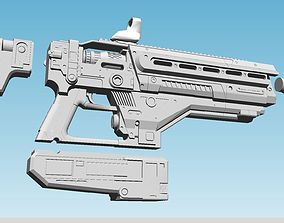 3D printable model Destiny 77 wizard fusion rifle