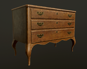 Antique commode - PBR Game Ready 3D asset