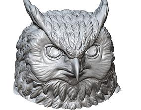 owl head sculpture printable