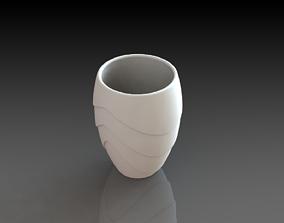 Flower Glass Vase 3D Printed