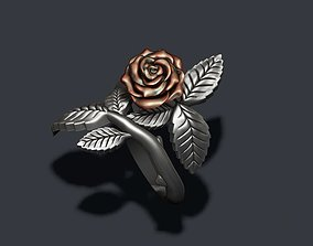 Rose ring leaf 3D printable model