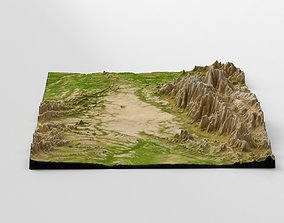 3D model Wasteland Mountain Landscape