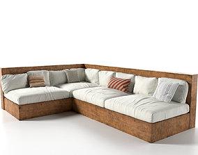 plankwood Outdoor Sofa 3D model