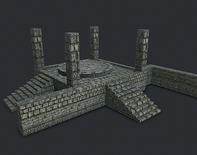 3D model Jungle Stone Altar Environment Game Assets