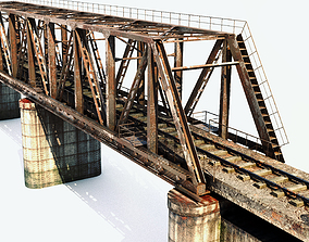 3D wagon Railway bridge