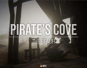 3D model Pirates Cove - The Beach - All