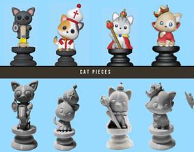3D print model Cat Chess Pieces