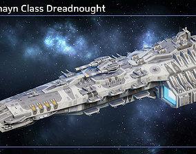 Spaceship Falkenhayn Dreadnought 3D asset