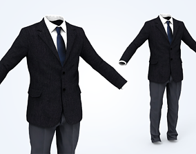 Business Suit Man 3D asset