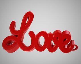 Love Keychain 3D print model