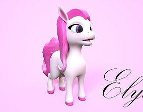 cartoon pony elysa 3D asset