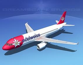 Airbus A320 LP Edelweiss 3D asset
