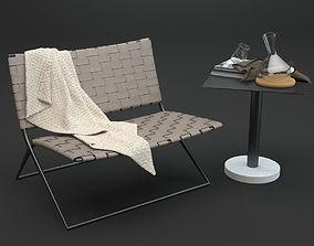 Roda Berenice Lounge and Bernardo Table 3D