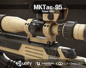 MK Tac-95 Sniper Rifle 3D asset