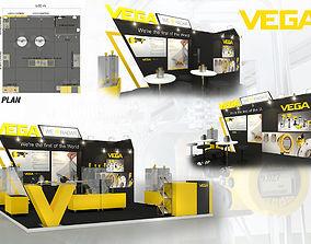 3D asset Booth VEGA design size 6 X 6m 36sqm