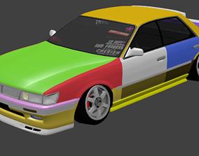 3D 1990 Nissan Laurel
