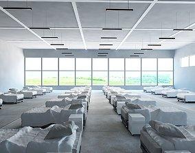 Temporary medical wards to quarantine 3D