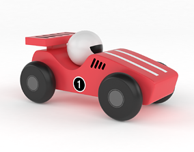 Red Toy Car 3D
