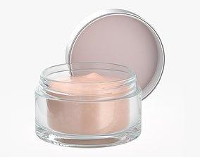 3D model Cosmetics glass jar face hand care cream