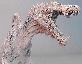 3D asset DINOSAUR WIRE FRAME - 03