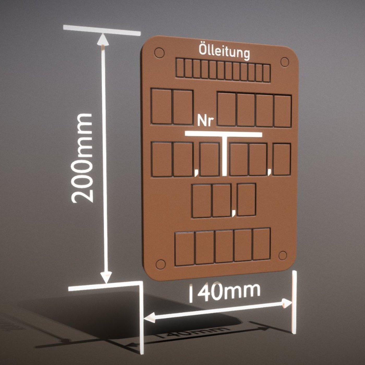 Hinweisschild Ölleitung 200x140mm