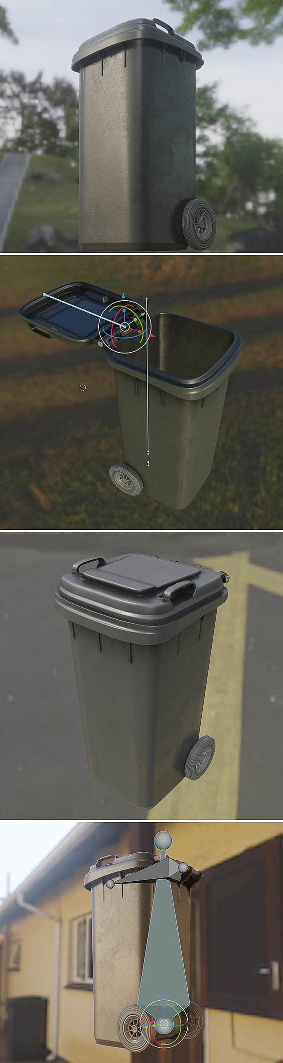 Rigged Residual Waste Can 120L -Low-Poly-Version-