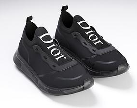 3D model Dior B21 black shoes