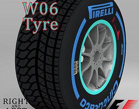 3D model W06 Wet front tyre