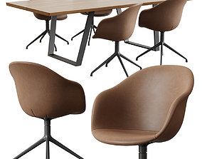 BoConcept Vancouver Table And Adelaide Chair 3D model