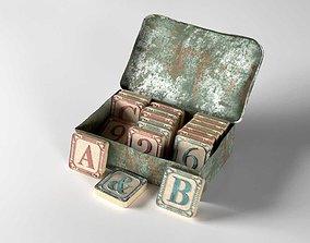 3D Vintage Scrabble Box