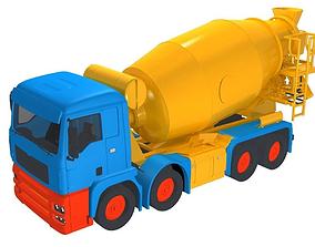 Concrete Mixer Truck 3D
