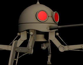3D Spider droid from Star Wars space