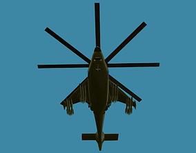 VR / AR ready Fantasy Military Helicopter KA-777 3