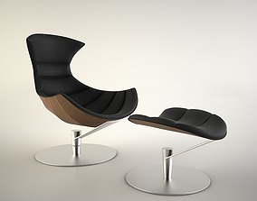 Lobster Chair with Ottoman 3D model