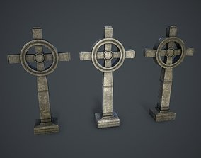 3D asset Old Stone Cross