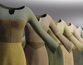Eight Peasant Dresses 3D asset