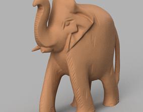 elephant rond 3D print model