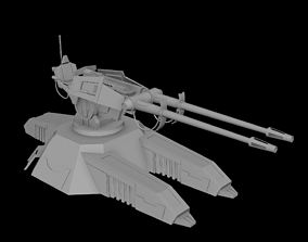 Star Wars Clone Turret weapon 3D