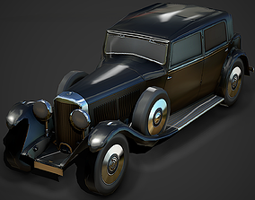 Old Car 01 Low Poly Mobile Ready 3D asset