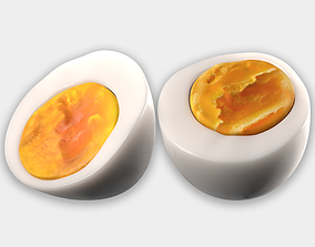 Photorealistic 3D Scanned Half Egg low-poly